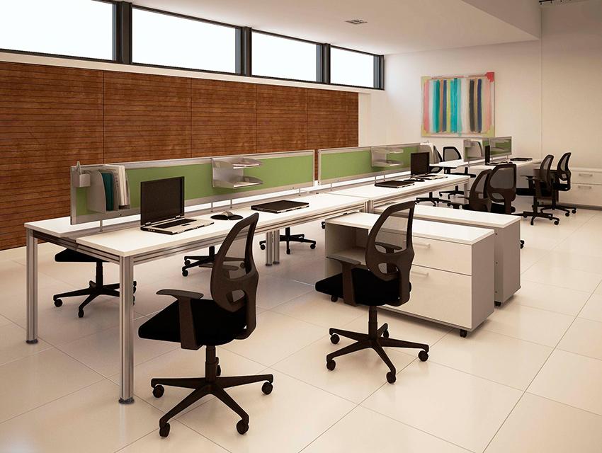 Integra escritorio modular vivant for Escritorio modular